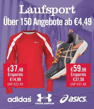 Laufsport Räumungsverkauf bei MandMDirect - mit vielen Schnäppchen, z.B. Brooks, Umbro, UnderArmour, Nike