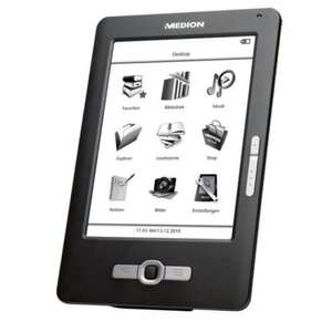 """MEDION LIFE eBook Reader P6301 (MD 86371) 15,2 cm / 6"""" Touchscreen Display 2GB"""