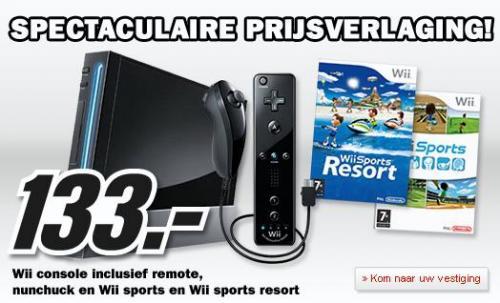 Nintendo Wii black mit Nunchuck und Remote 133€@ MM Roermond