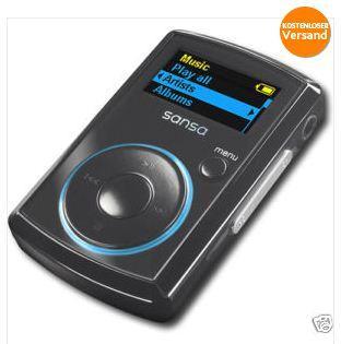 SANDISK MP3 Player mit FM-Radio 2 GB Schwarz (generalüberholt) 15,99 Euro