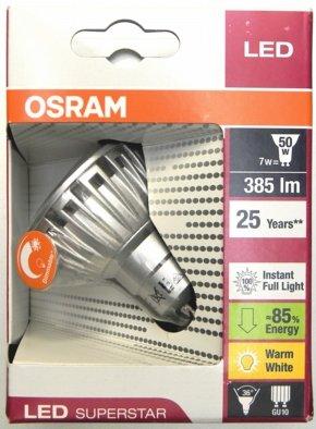 [Digitalo] OSRAM LED SUPERSTAR GU10 7,5W warm-weiß Reflektor dimmbar für 11,70 €