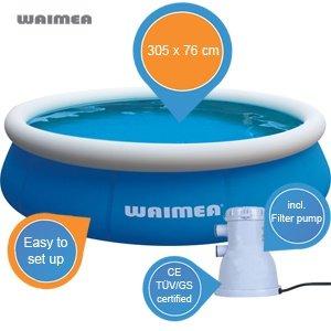 Waimea Quick Up Badepool mit Filterpumpe 1100L  für 43,90 bei Ibood