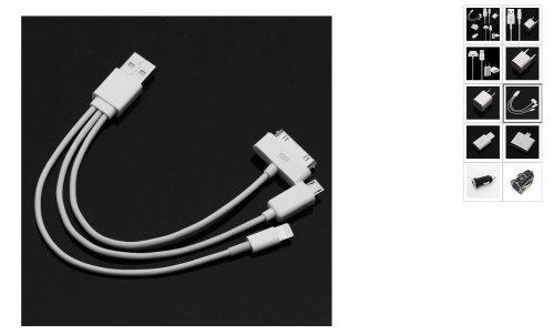 Ebay: 4 in 1 USB Kabelpeitsche aus China für 1,08€ inkl. VSK für Apple, Samsung uvm.