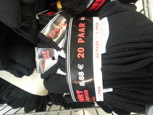 [E-center Porta-Westf. Lokal?] 20er Pack Sportsocken für 8,88 €