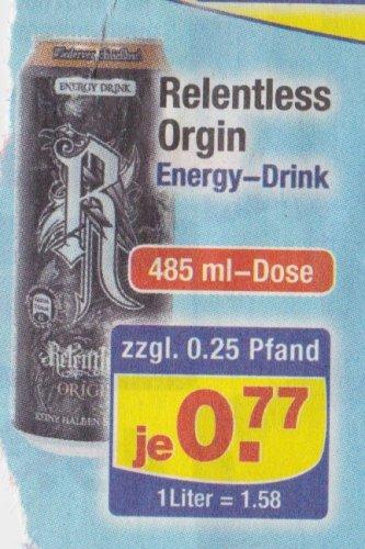 Centershop: Relentless Orgin Energy Drink 485 ml Dose für 0,77 €