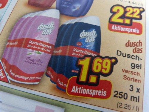 [Netto Marken Discount] Dusch Das 3er Pack für 1,69€