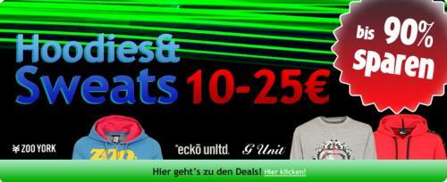 200 Hoodies und Sweatshirts für 10 bis 25 Euro bei 4clever.de. Zooyork, Ecko, Sir Benni Miles u-a.