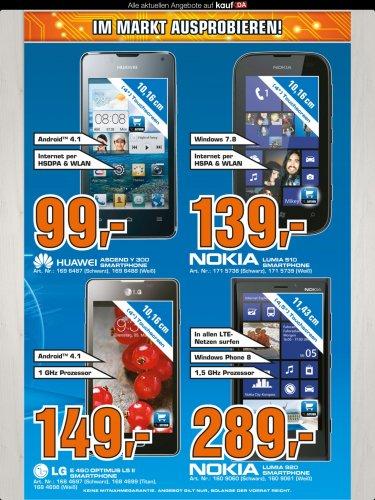 Saturn offline. Huawei Ascend Y300 für 99,- €