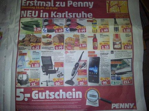 [penny][KA-Nordstadt] Sony Xperia Miro Black für 99€ + 5€ Einkaufsgutschein am 10.09.2013