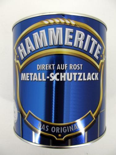2,5L HAMMERITE Metallschutzlack weiß glänzend / empfehlenswert laut SidM