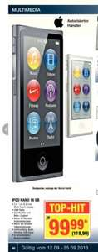 [Metro] Apple iPod nano 7G 16GB