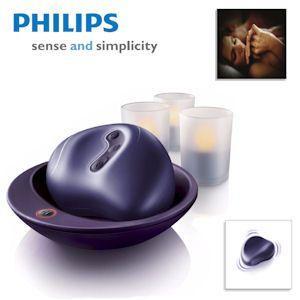 Philips HF8430 Intim-Massagegerät für Sie und Ihn und 3 Imageo LED-Kerzen