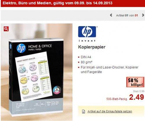 HP Kopierpapier 500 Blatt - Kaufland