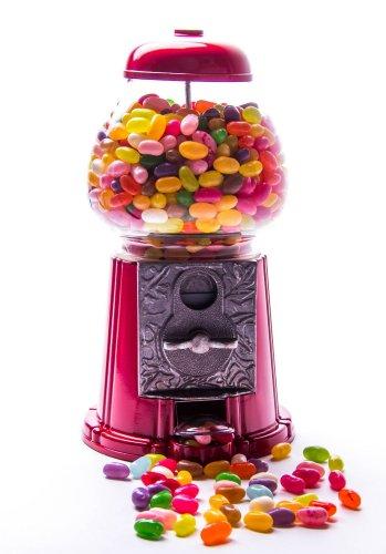 Kaugummiautomat 28cm groß rot + 1 Tüte á 1000g Jelly Belly Beans