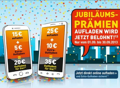 Edeka Mobil: +10 (bzw. +5) Euro bei 25 (bzw. 15) Euro Aufladung