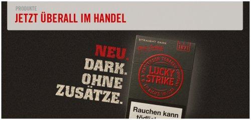 """Hallo Raucher: Lucky Strike """"Straight Dark"""" gratis nach Hause bestellen (mit kleinem Code-Raetsel...)"""