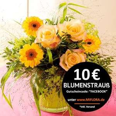 """MIFLORA - Blumenstrauß """"Lovely Peach"""" für nur 10€!"""