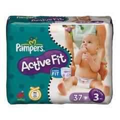 PAMPERS Active Fit Gr.3, midi, 4-9kg, 37 Stück