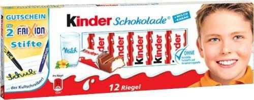 [Lokal Edeka Itzehoe] 50% Billiger Kinderschokolade 10 + 2 Riegel (+2 Frixion Stifte +58ct) für 69 Cent statt 1,39€