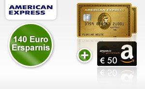 Web.de: Amex Gold inkl. Zusatzkarte für 1 Jahr gratis, dazu ev. 50€ Amazon-Gutschein