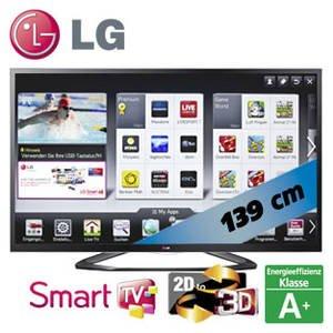 """55"""" LCD LG 55LA6418 (titan) oder LG 55LA6408 (schwarz) mit IPS Panel, 4 Polarisationsbrillen + Der Hobbit 3D Bluray für 799€ bei Amazon"""