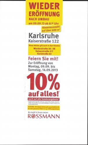 [Lokal Karlsruhe Kaiserstrasse] 10% auf alles bei Rossmann