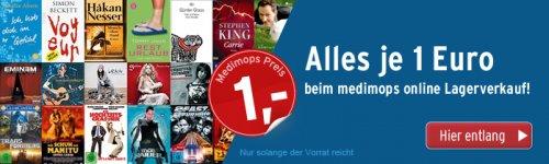 [Medimops] Online Lagerverkauf - ALLES JE 1 Euro !!! (u.a. Bücher: Feuchtgebiete, Vollidiot, Verblendung; Filme: Inception, Dark Knight usw.) + 3 Euro Versand (ab 20 frei)