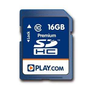 Play.com 16GB SDHC Class 10 Memory Card