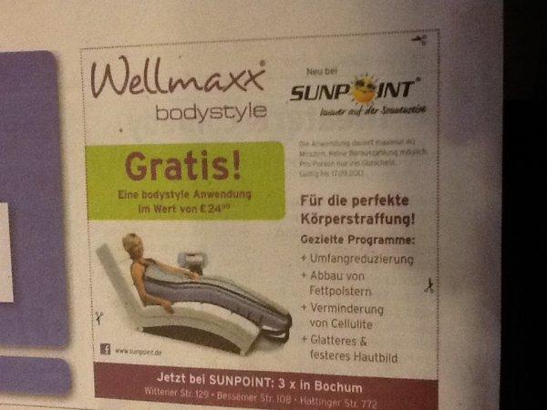 [Lokal Bochum] SunPoint Gratis Wellmaxx Bodystyle Anwendung