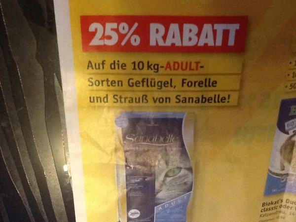 [Offline Futterhaus] 10kg Trockenfutter Sanabelle Adult 25% Rabatt