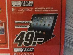 [Lokal MediaMarkt NRW] Logitech Ultrathin Keyboard Cover für iPad 2,3,4