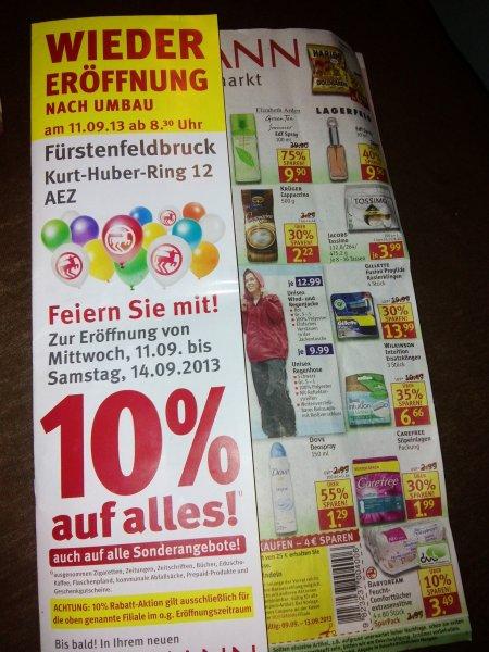 Rossmann in Fürstenfeldbruck gibt 10%