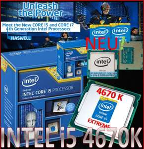 INTEL CORE i5 4670K BOXED QUAD CORE !K! 4 x 3.4GHz