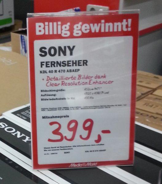 [Lokal??? MM Bochum] Sony Bravia KDL-40R470 LED-Fernseher