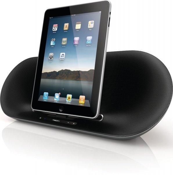 Philips Fidelio DS8550/10 iPad/iPhone/iPod Soundsystem (Bluetooth, integrierter Akku) schwarz - NUR HEUTE