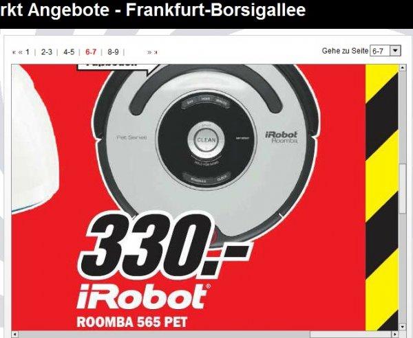 [lokal MM Frankfurt Borsigallee] iRobot Roomba 565 PET - Staubsaugerroboter