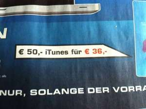 [lokal] Saturn Hamburg 50€ iTunes für 36€
