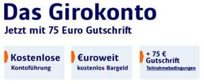 ING-DiBa: Girokonto-Prämie: 75€ (auch Studenten!)