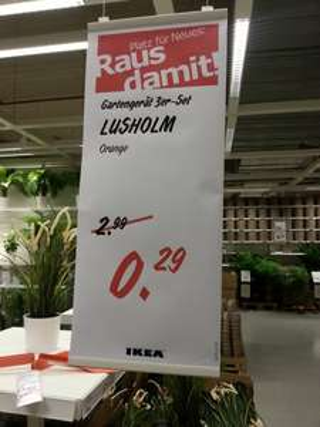 [Lokal][offline] LUSHOLM Gartengeräte-3er-Set Ikea Chemnitz