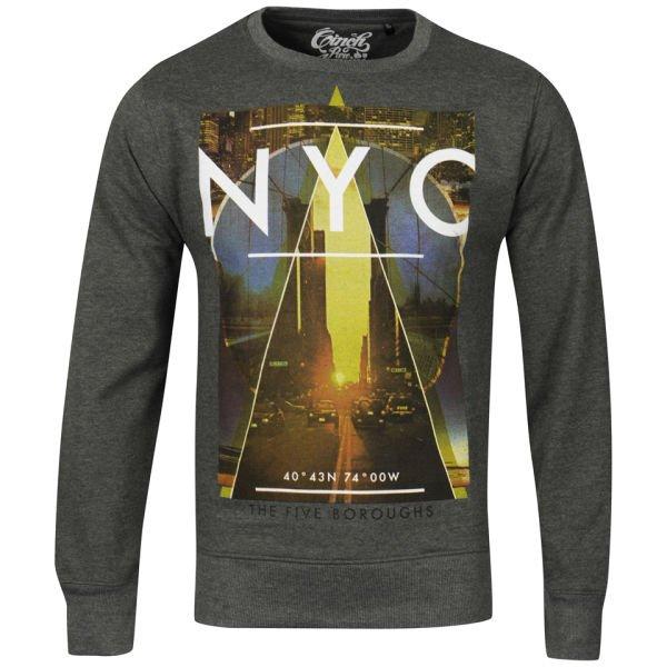 Cinch Men's Gotham Photo Print Crew Neck Sweatshirt für 12€ @TheHut