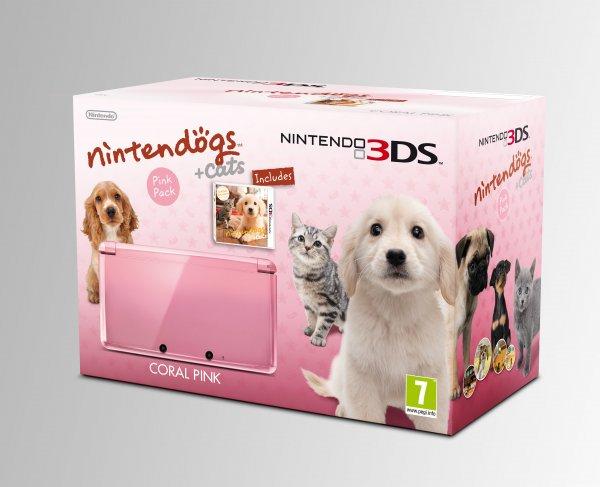 3ds pink mit Nintendodogs für 139,99€ (mit qipu 135,82€)