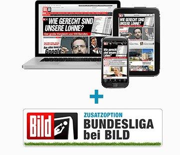 BILDplus Digital mit Bundesliga 1 Monat gratis (selbstkündigend)
