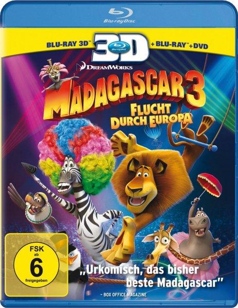 Madagascar 3: Flucht durch Europa (+ Blu-ray + DVD) [Blu-ray 3D] @Amazon
