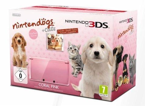 Nintendo 3DS, pink inkl. Nintendogs Retriever 139,99 € incl- Versand