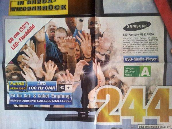 [Lokal Rheda-Wiedenbrück | Neueröffnung] Samsung LED-TV U32F5070 für 244 € uvm.