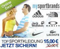 DailyDeal: 15 Euro statt 30 Euro für Gutschein für mysportbrands