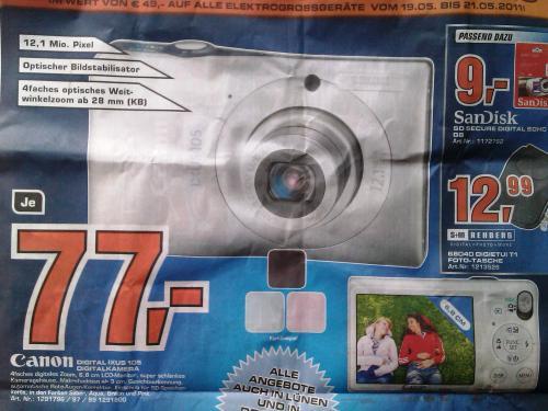 Canon Ixus 105 lokal @ Saturn Dortmund für 77€ - drei Farben