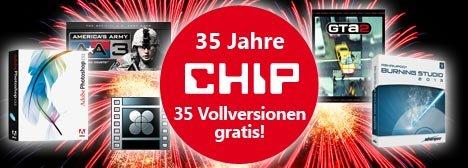 Chip 35 Vollversionen zum 35. Geburtstag