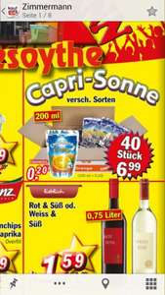 [Lokal-Bremen-Zimmermann] Capri Sonne 40x