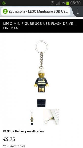 [Zavvi.com] Lego Figur USB-Stick 8 Gb